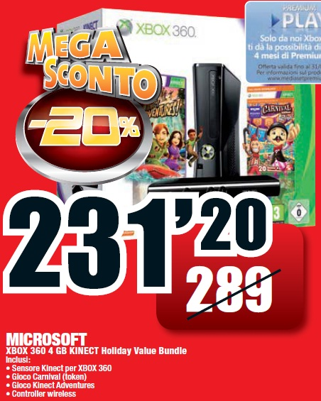 offerte,volantino,Media World,Xbox 360,Apple