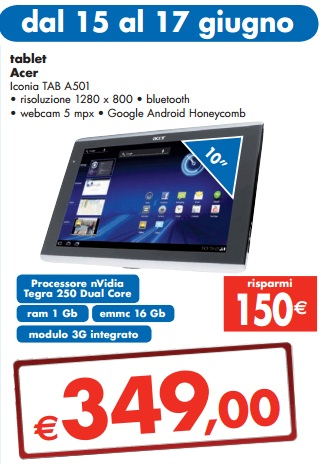 Acer Iconia Tab A501 16GB 3G